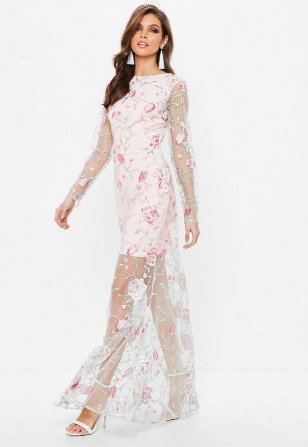 Sleeve maxi dress bodycon prom long bohemian style