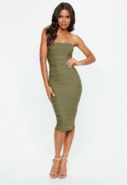 1a146f8fe28 Khaki Dresses | Khaki Green Dresses - Missguided