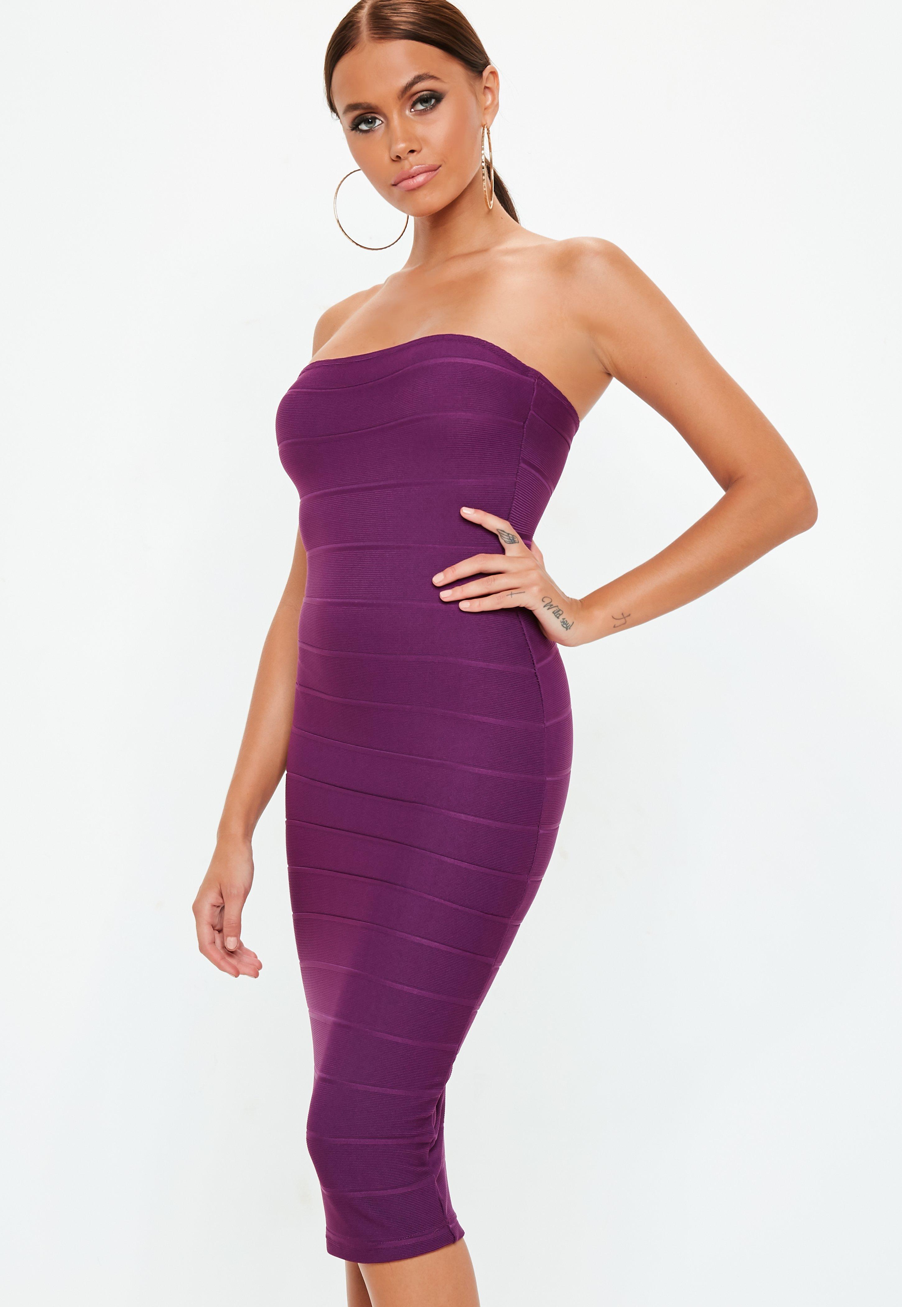 Bandeau Dresses | Shop Strapless Dresses - Missguided