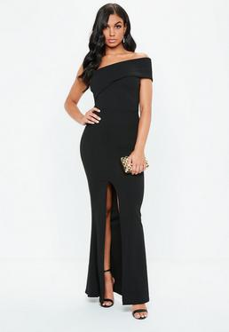 abac3d5b31 Black One Shoulder Maxi Dress
