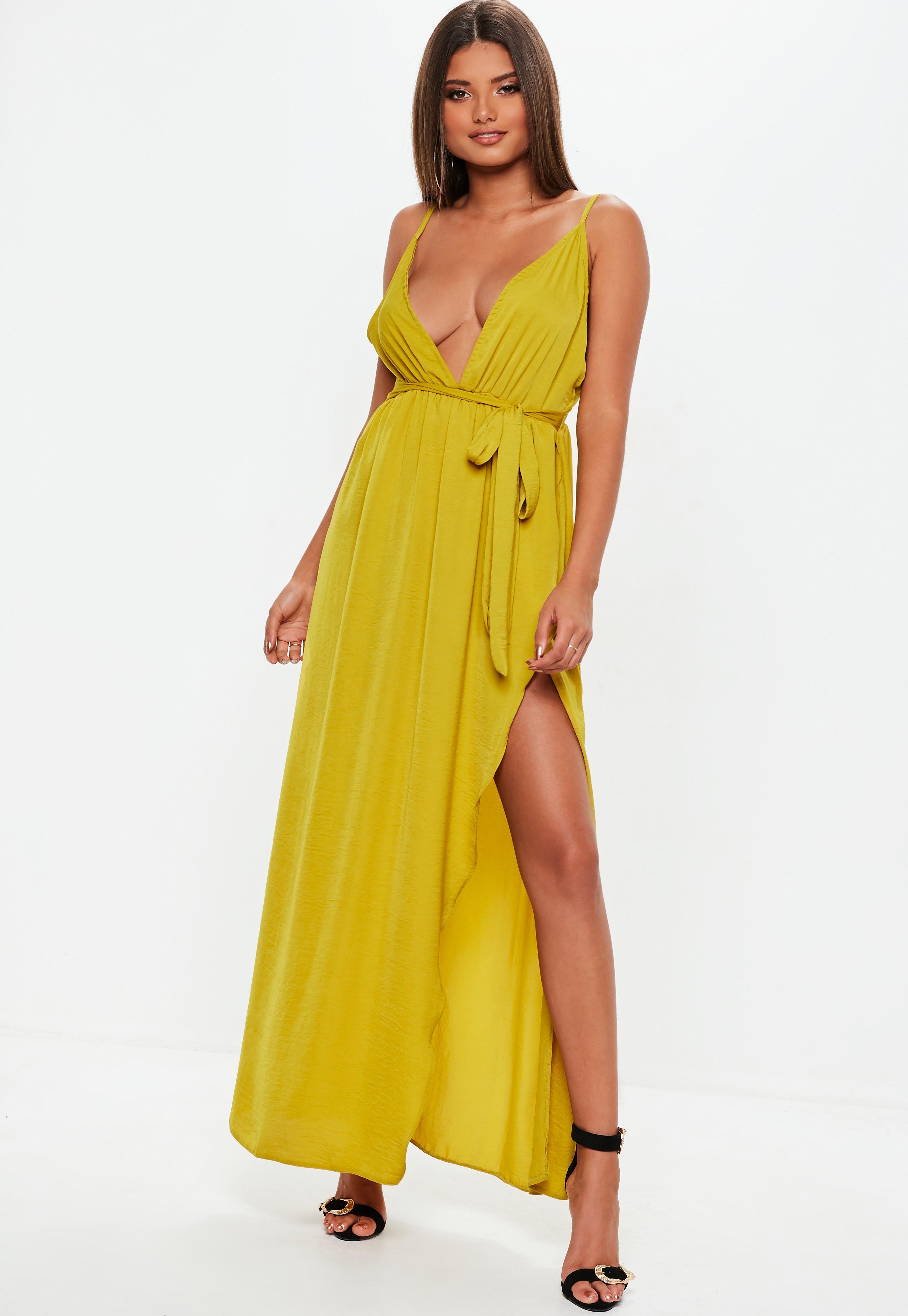 Maxikleid in gelb