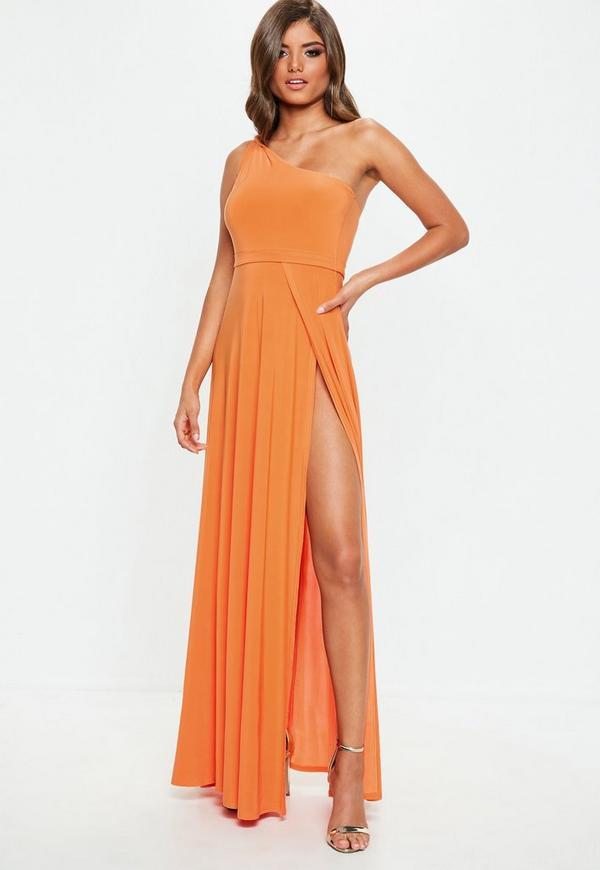 Long Orange Maxi Dress