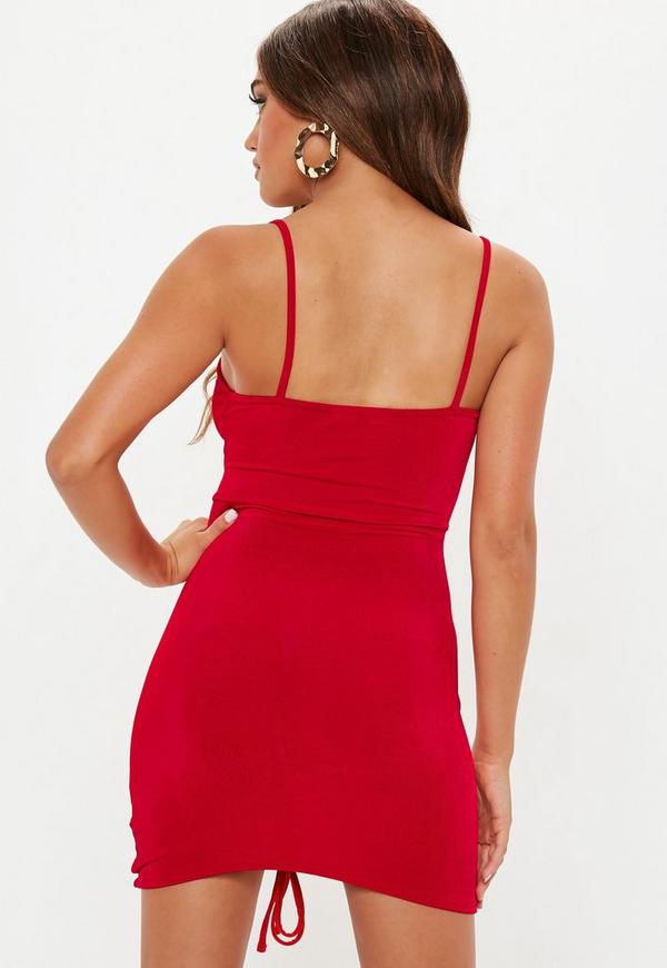 de25ef5baae ... Red Sleeveless Ruched Cut Out Mini Dress. Previous Next