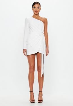 Looks vestidos blancos cortos