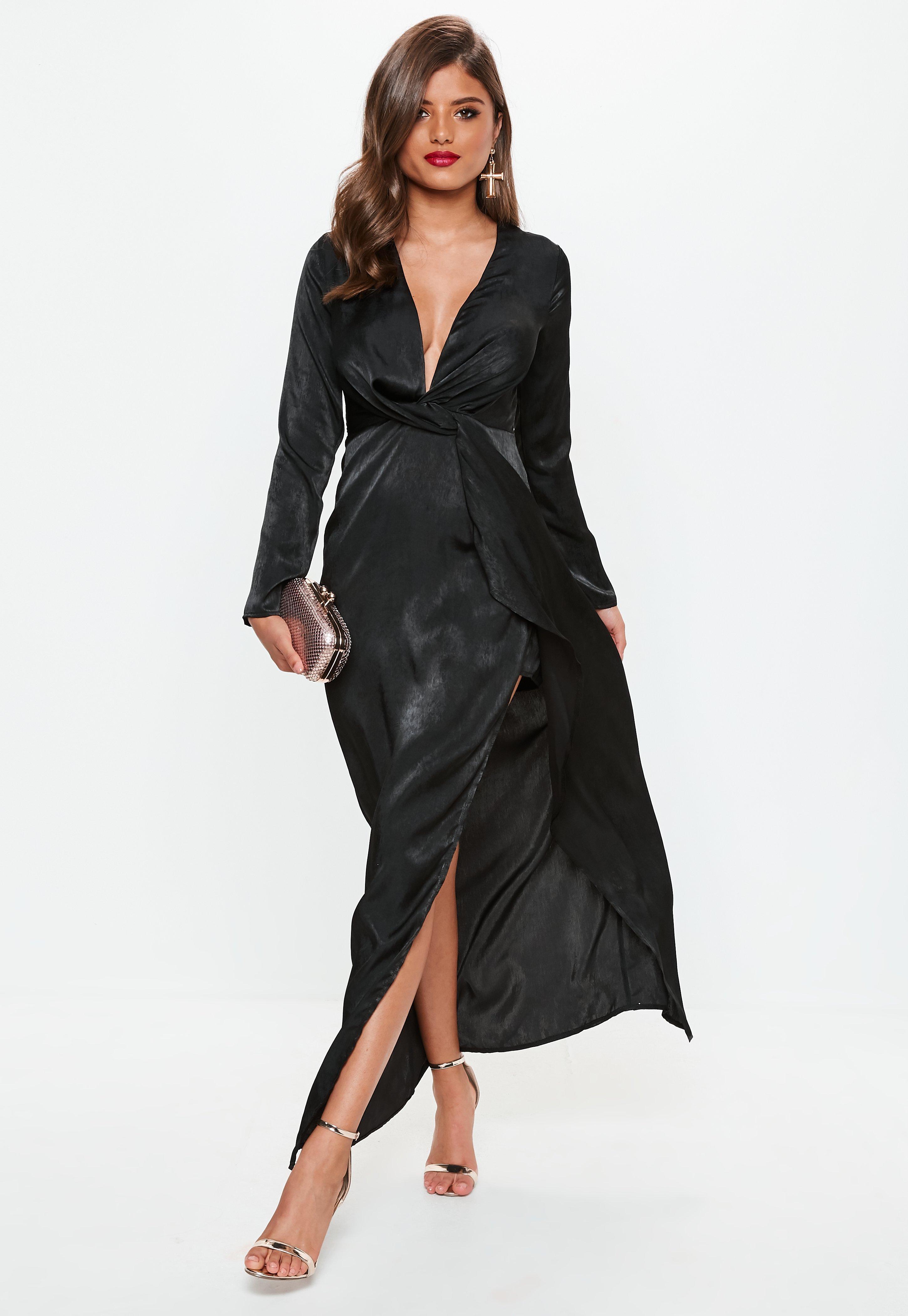 Black Lace Strapless Long Summer Dresses