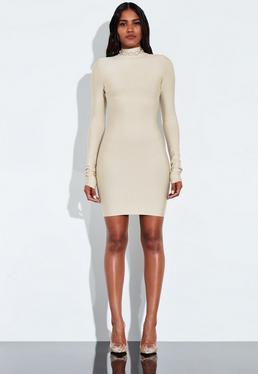 649b792e98 ... Peace + Love Kremowa bandażowa sukienka