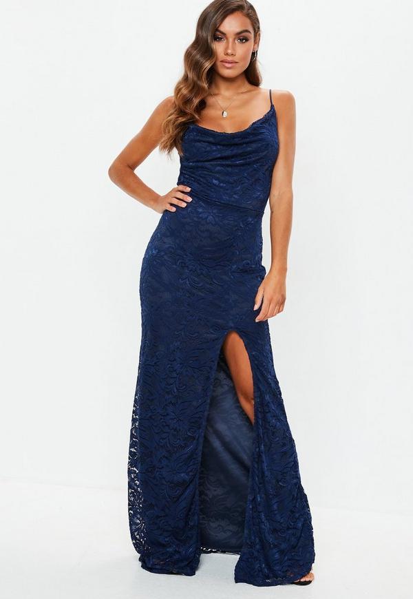 Vestido azul marino holgado