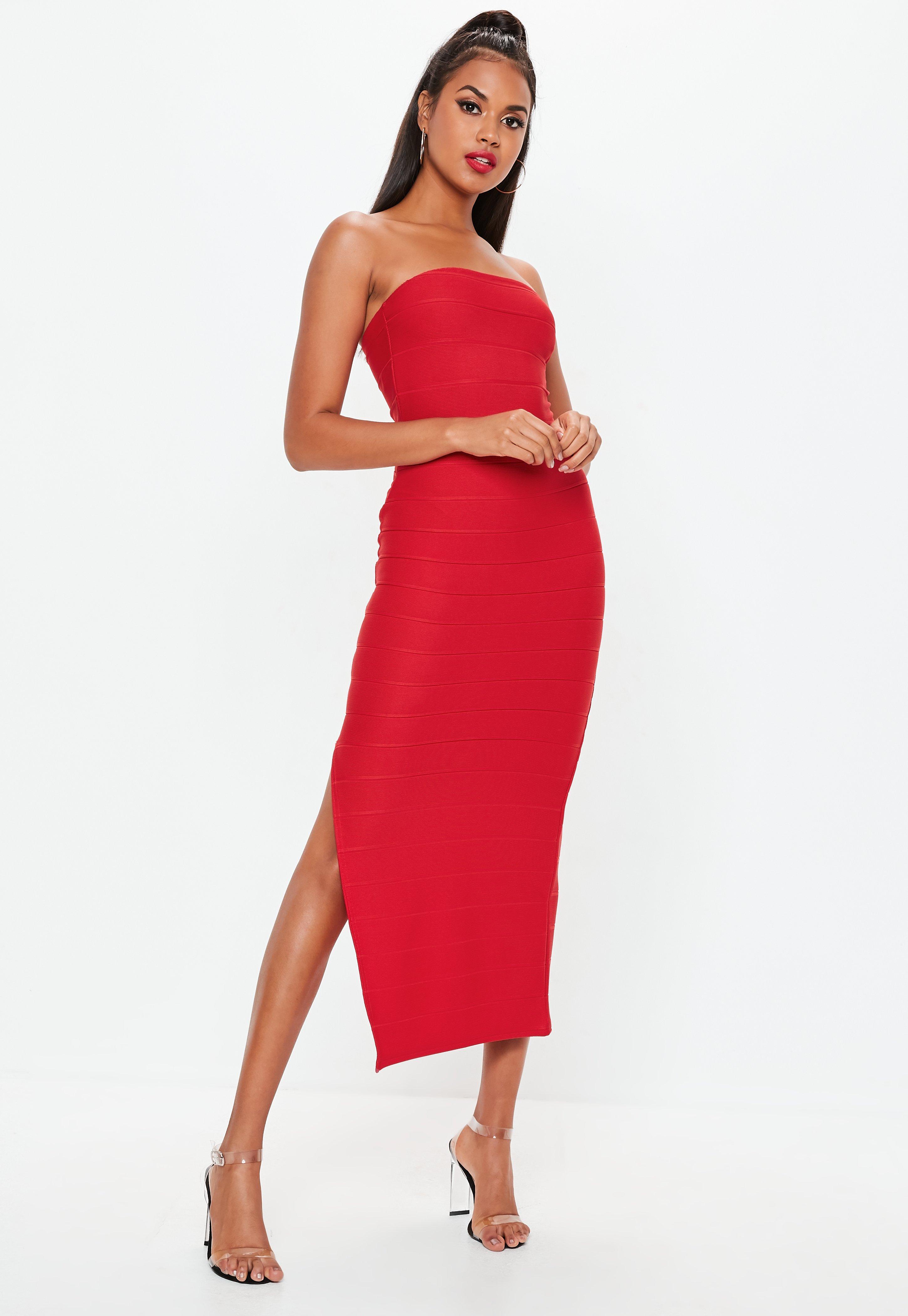 Vestidos rojos largos pegados