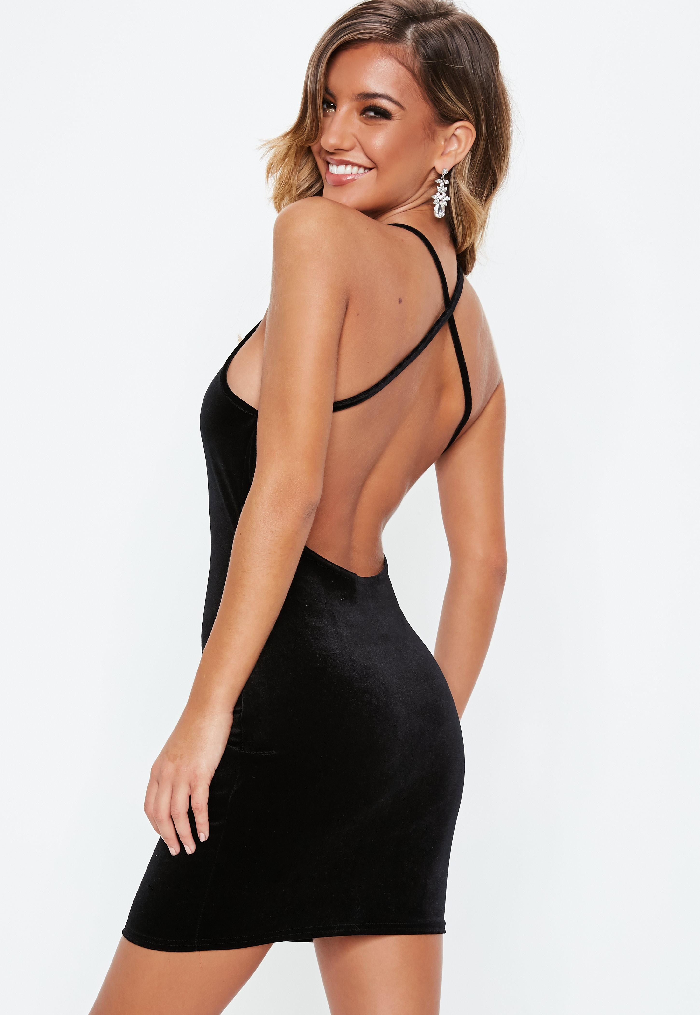 70a4366311 Black Velvet Square Neck Bodycon Dress