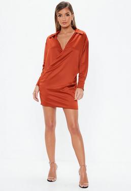Satin Shirt Dresses 3b1c564ec