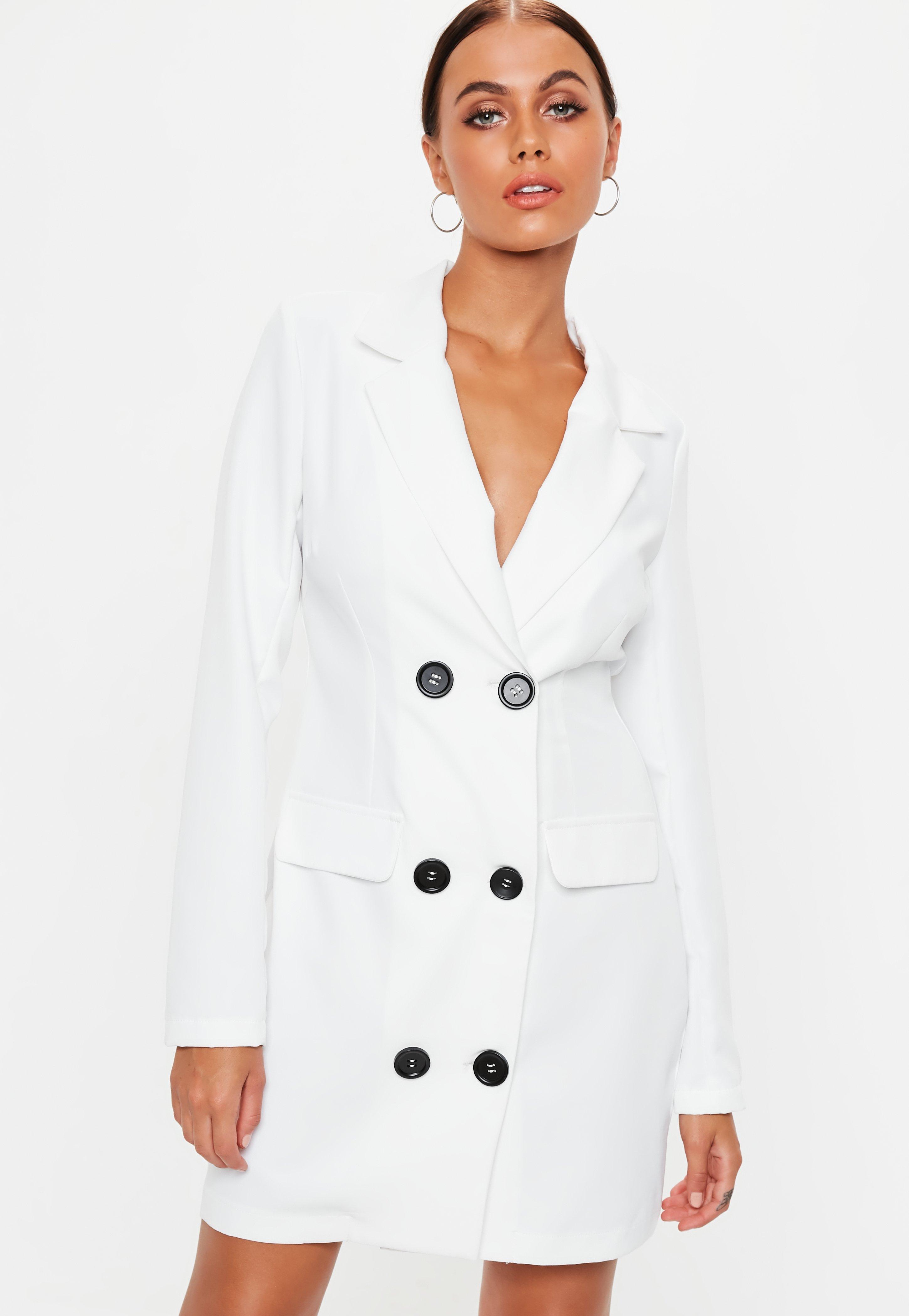 Blazer Vestido Vestido Cruzado Blazer Cruzado Blanco 6wxOq8wPa