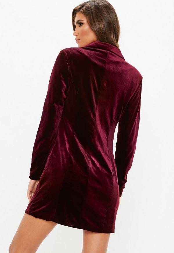 d742d8179453 ... Dresses    Burgundy Double Breasted Velvet Blazer. Previous Next