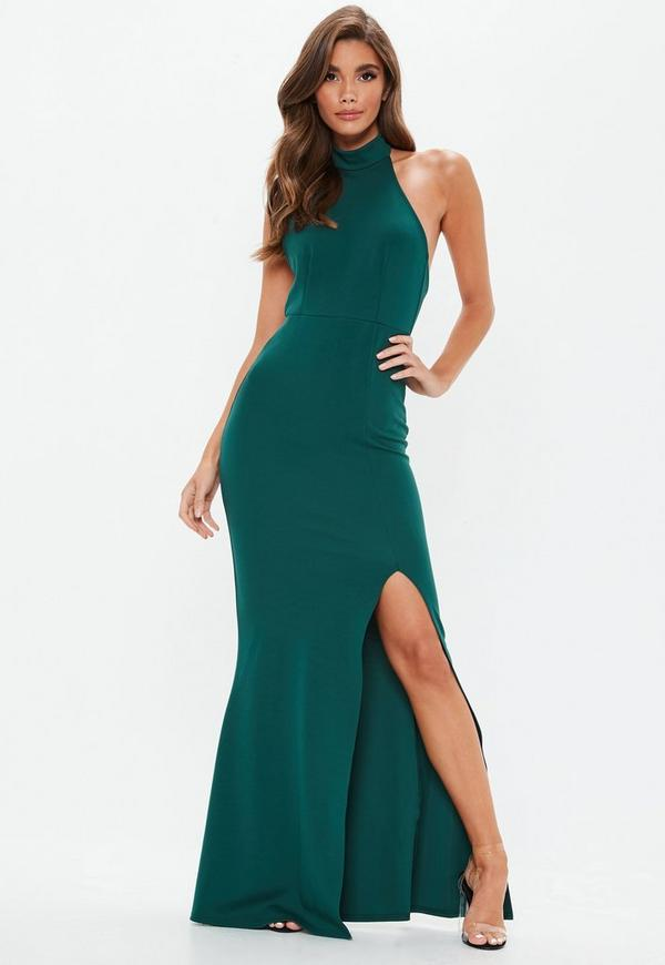 32b1a9a7e8c4 ... Green Choker Maxi Dress. Previous Next