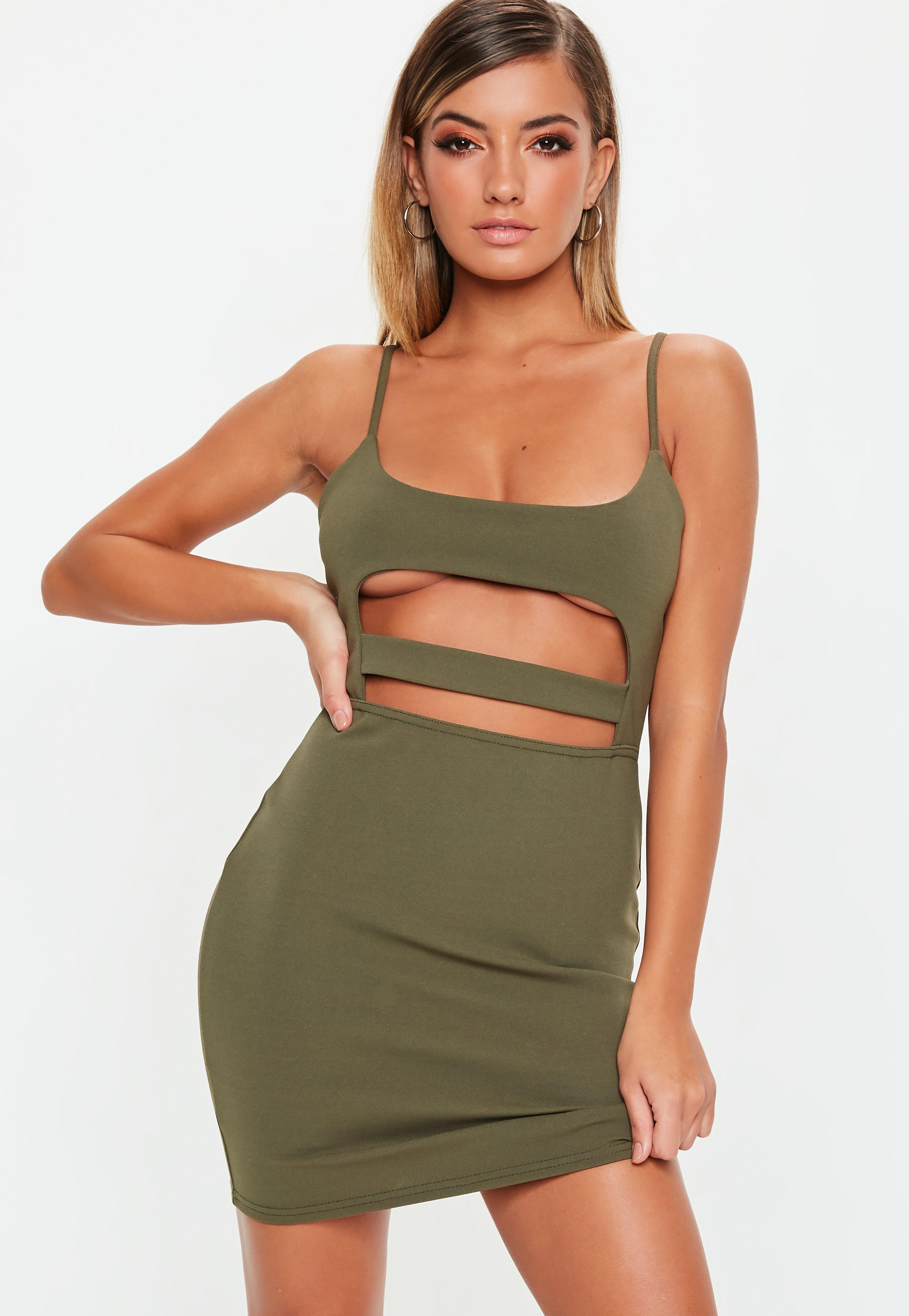 92a4b888cb3f6 Khaki Dresses | Khaki Green Dresses - Missguided