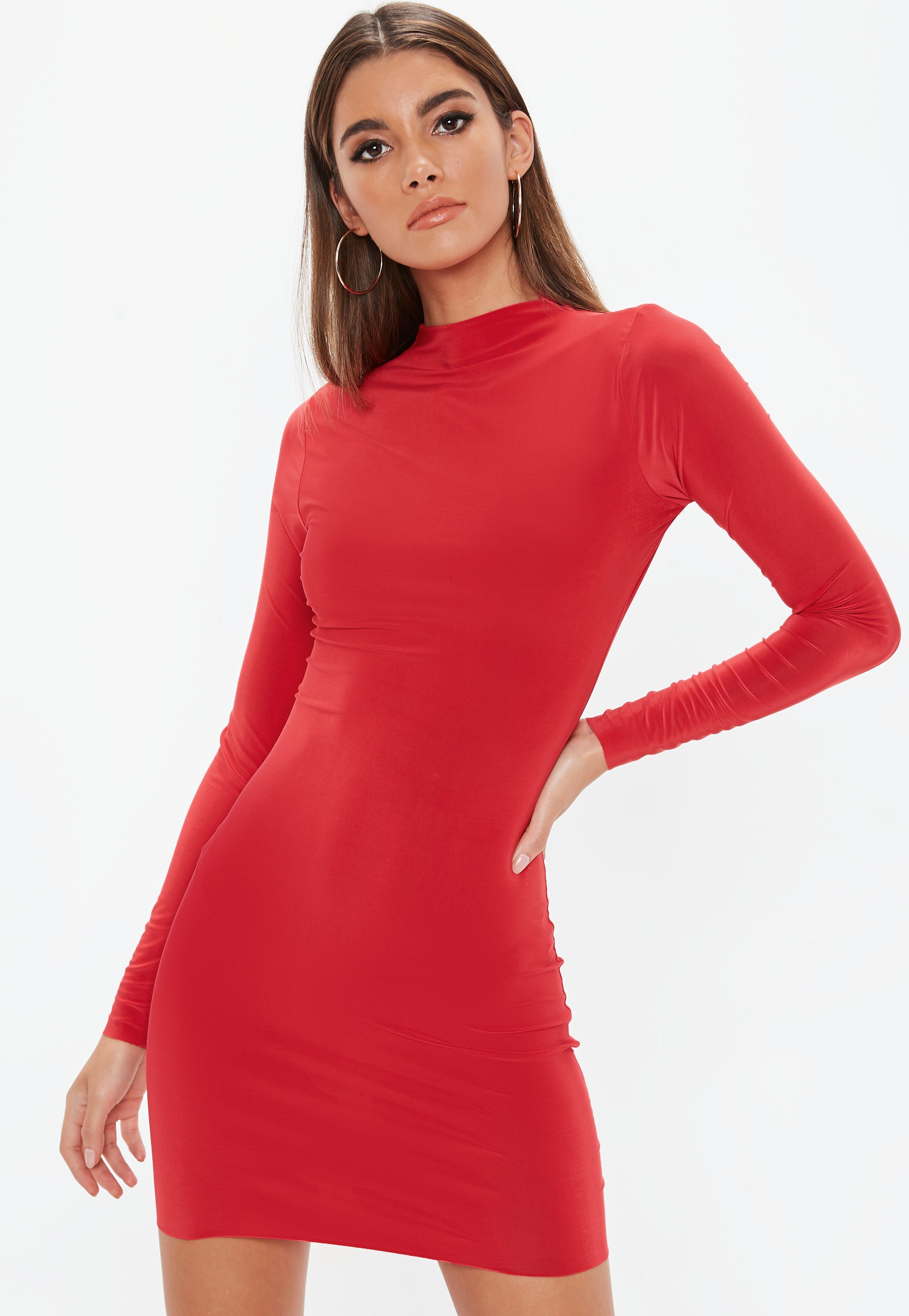 High Neck Mini Dresses