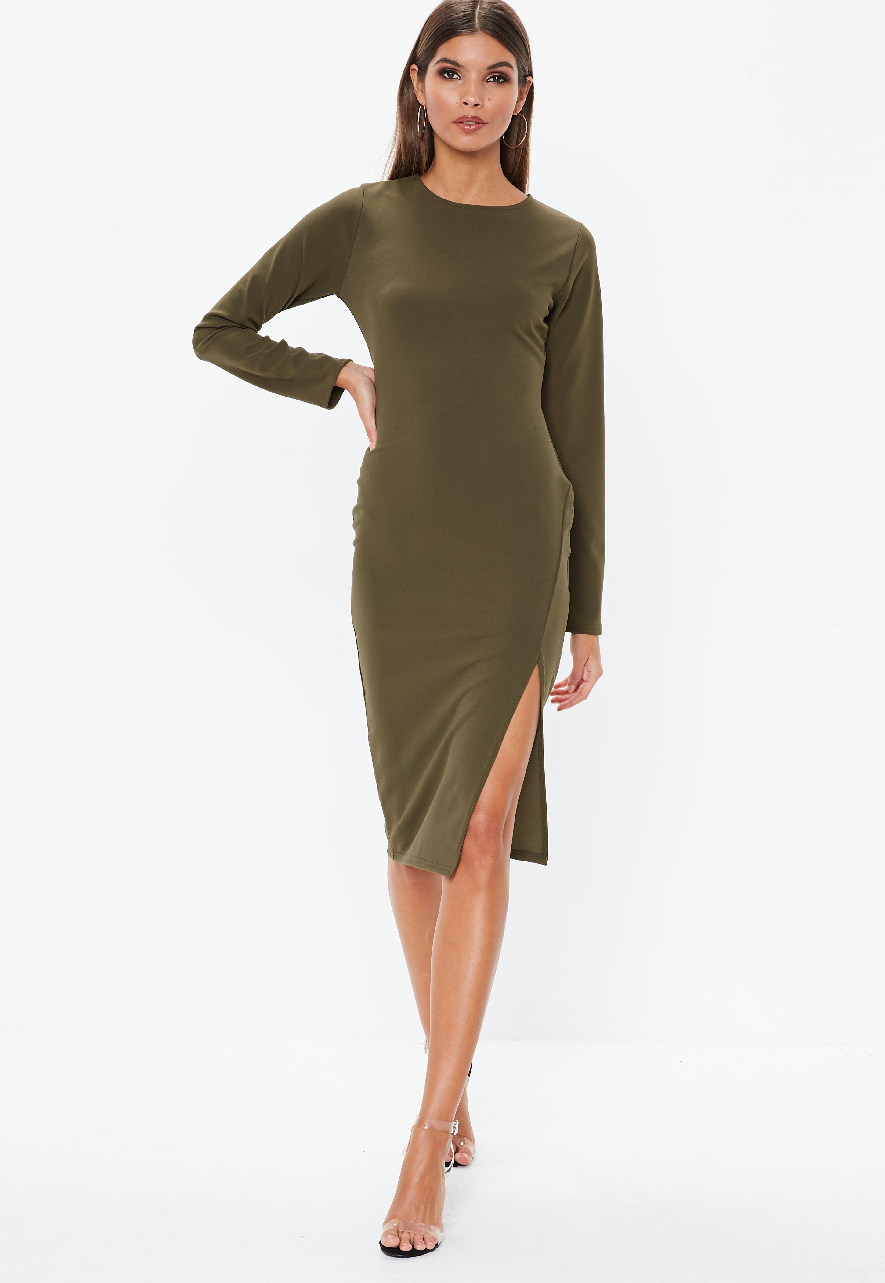 02fc6ca11b Khaki Dresses   Khaki Green Dresses - Missguided