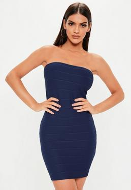 Vestidos azules marino cortos