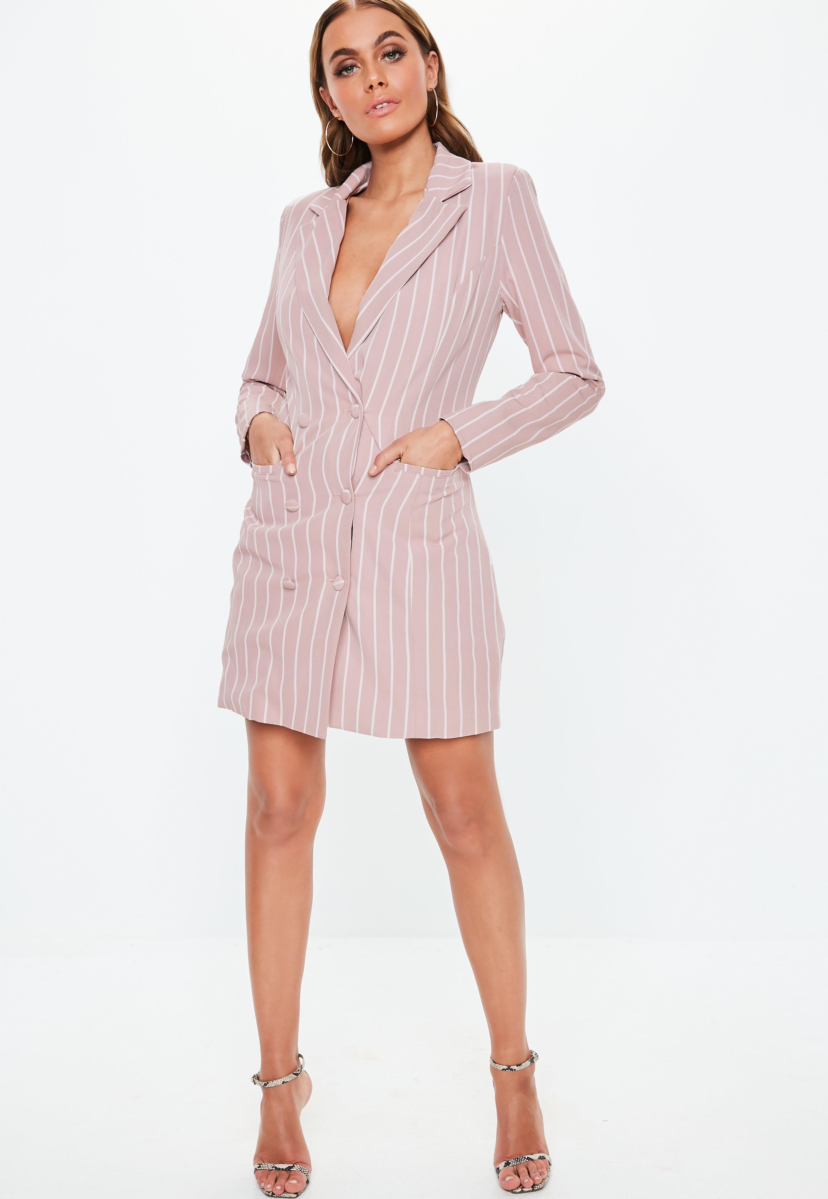 Tuxedo Dresses Women S Blazer Dresses Online Missguided