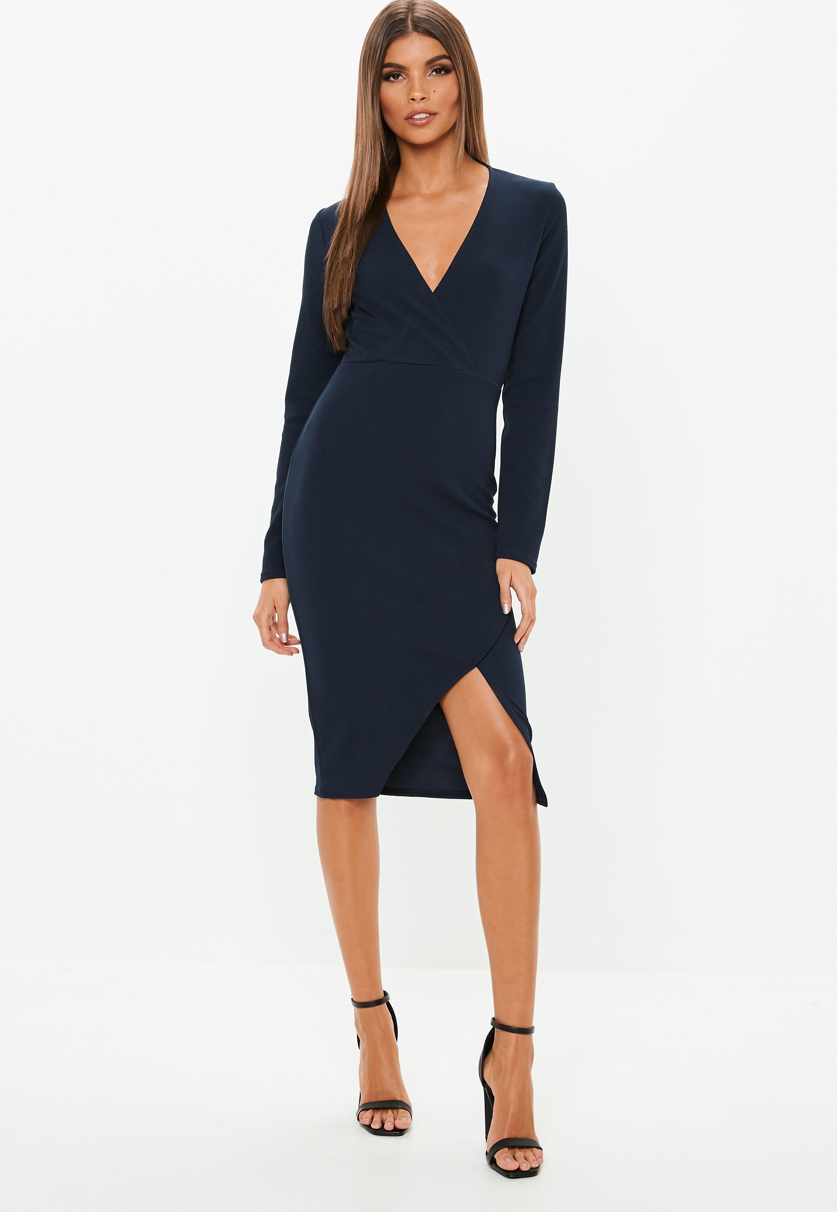 Long Navy Dress
