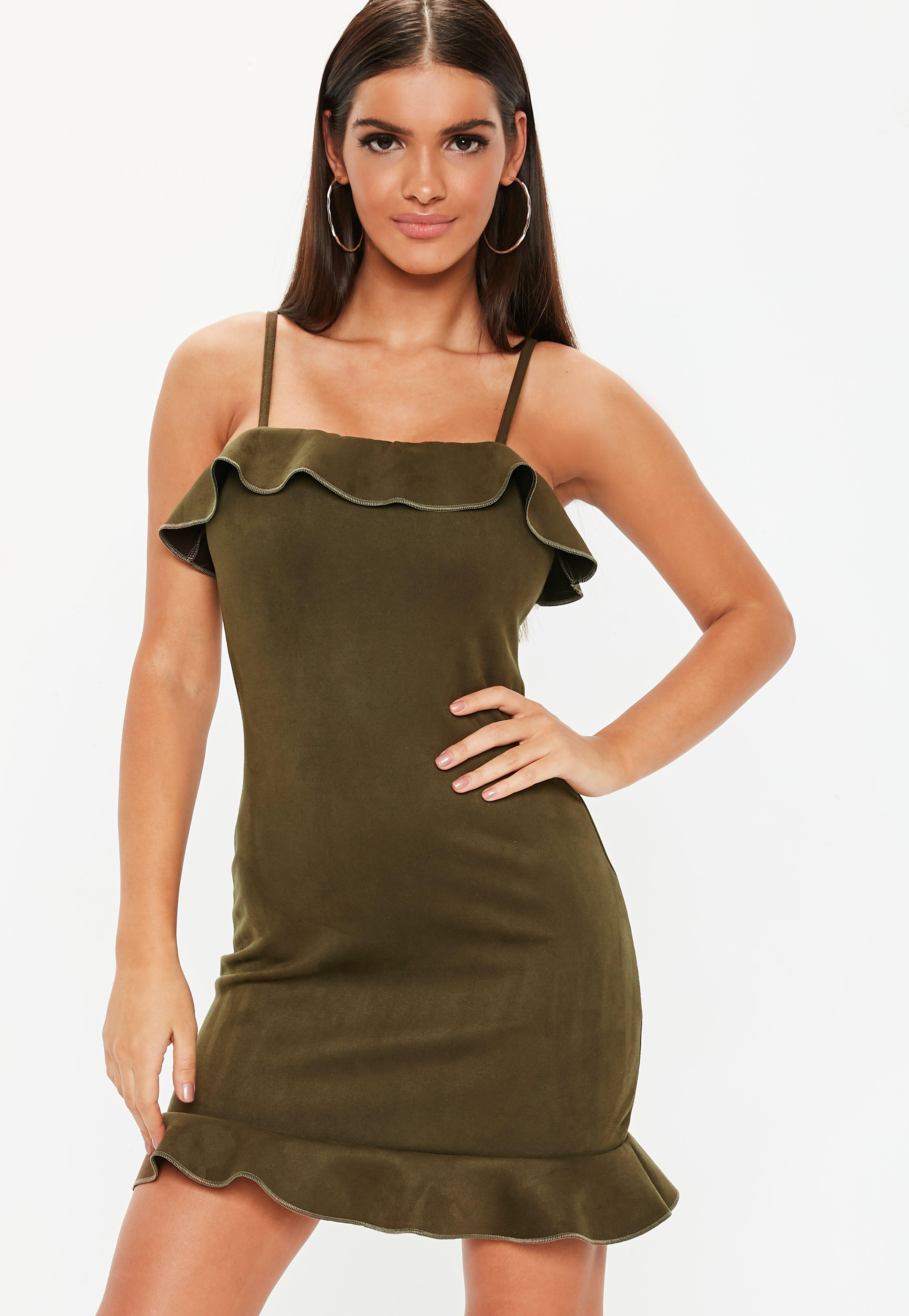50a8553cfd7c Suede Dresses Online - Missguided