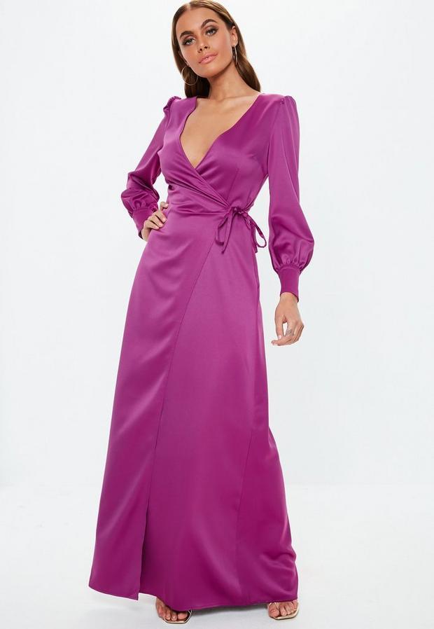 Missguided - Satin Tie Side Maxi Dress - 3