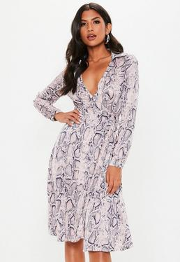 25280314dab19 Midi Wrap Dresses · Ruched Dresses · Long Sleeve Midi Dresses