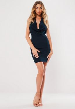 Outfit vestido azul marino casual