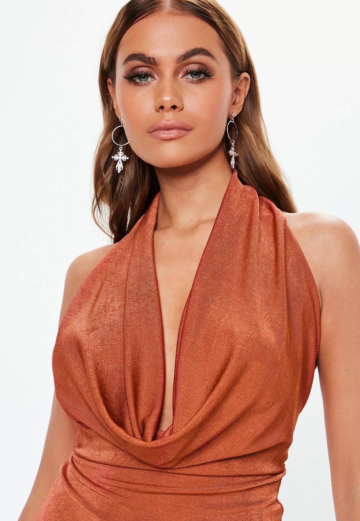 Missguided - robe courte dos-nu  à col bénitier - 3