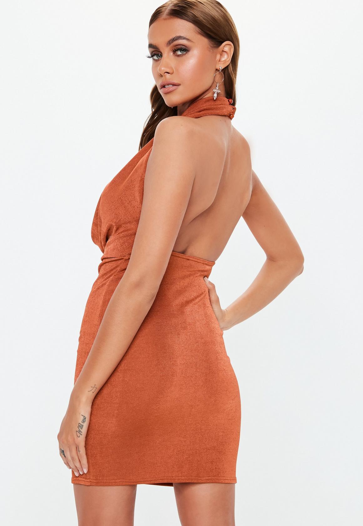 Missguided - robe courte dos-nu  à col bénitier - 4
