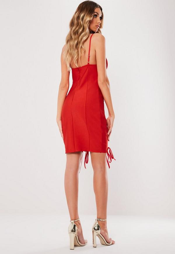 Red Bandage Bust Cup Bodycon Mini Dress Missguided