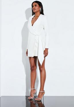 53a891b966f8 ... Peace + Love Cream Drape Wrap Blazer Dress