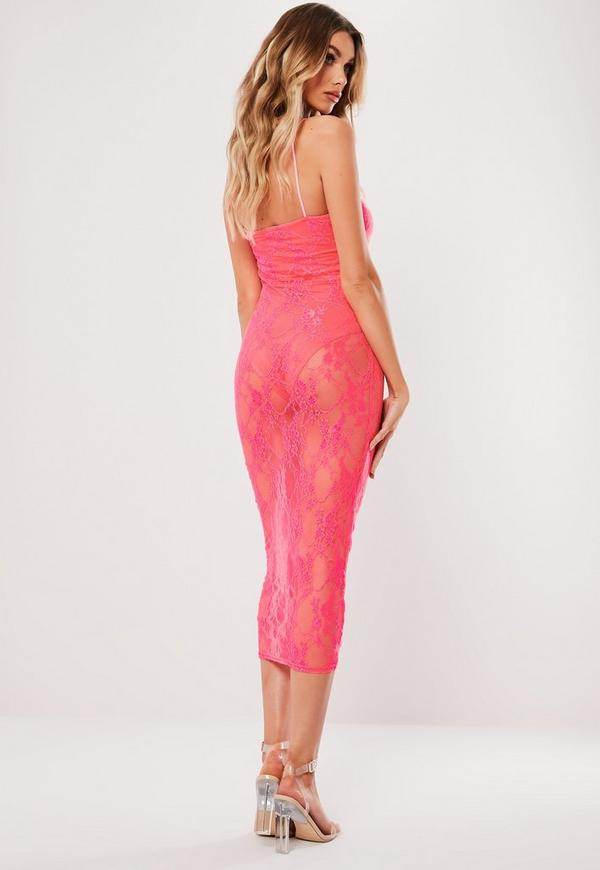 Nike bodycon dress with neon taped side stripe