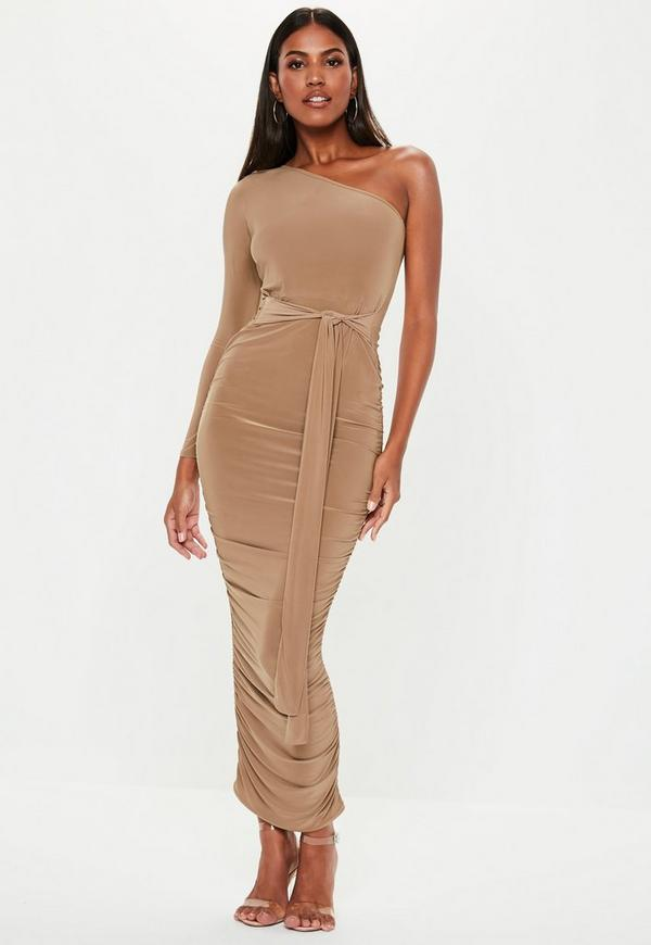 f7ac31b1a0e240 Source:https://www.missguided.com/ie/camel-one-shoulder-slinky-ruched-midi- dress-10133278