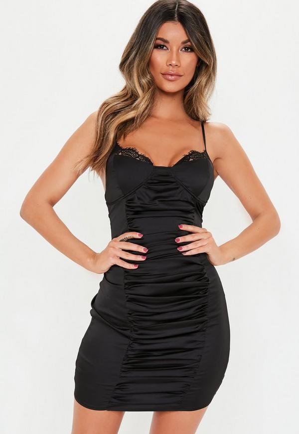 Satin Mini Dress