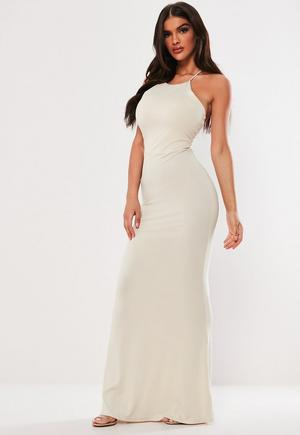 be458f4ad £18.00. stone cross back high neck maxi dress. select your ...