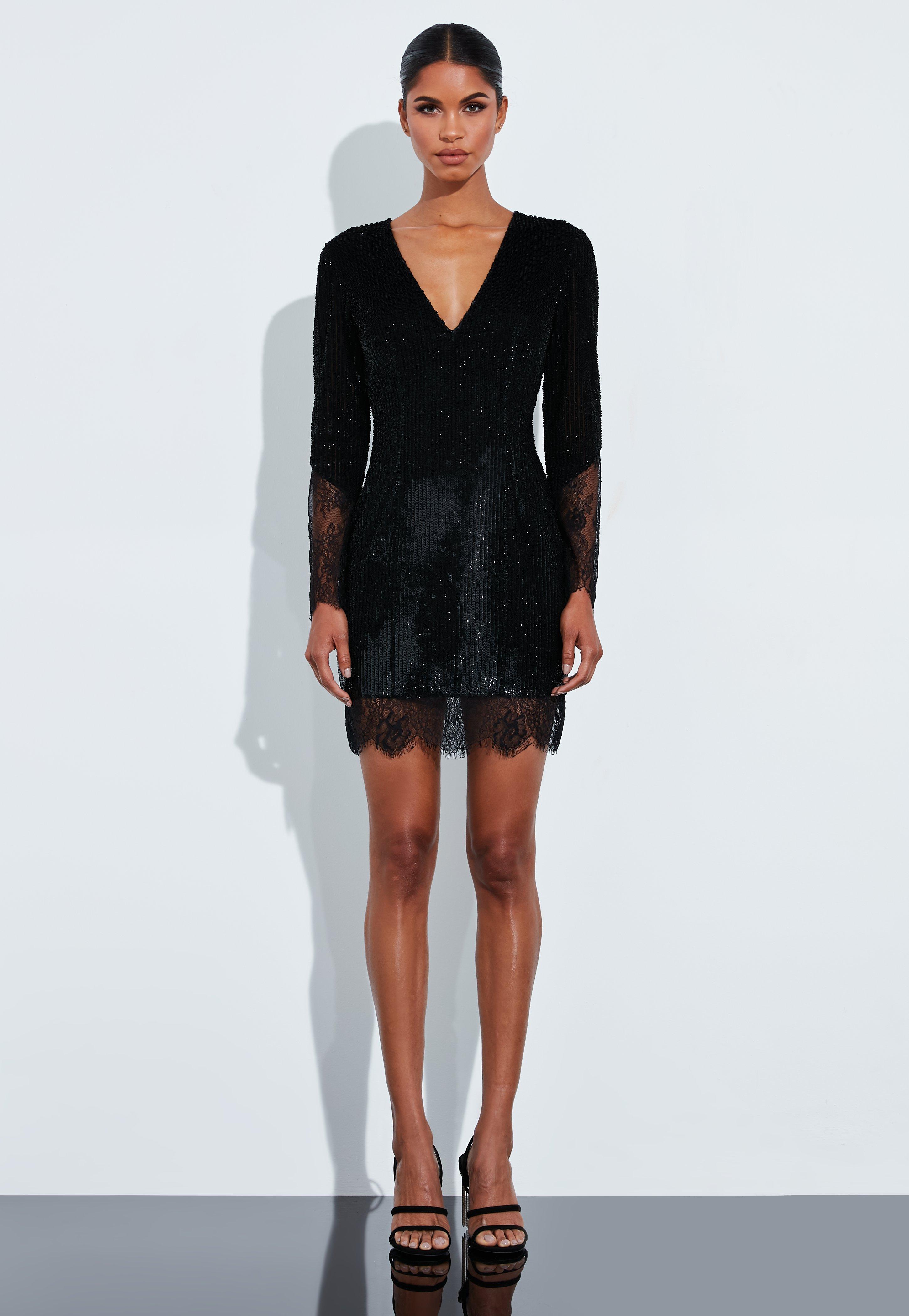 Jersey kleid schwarz lang