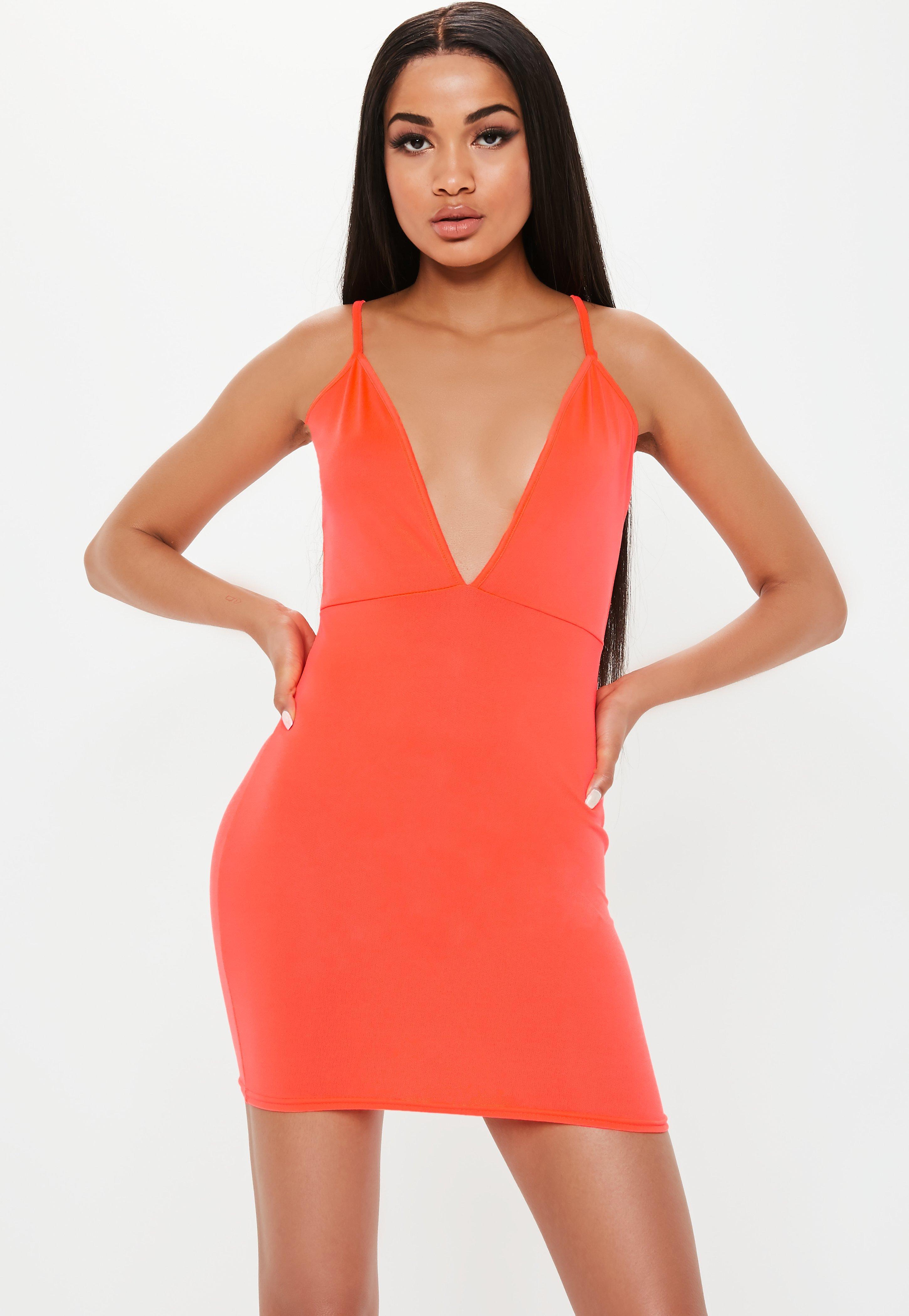 5e2c527d47f66 Orange Dresses