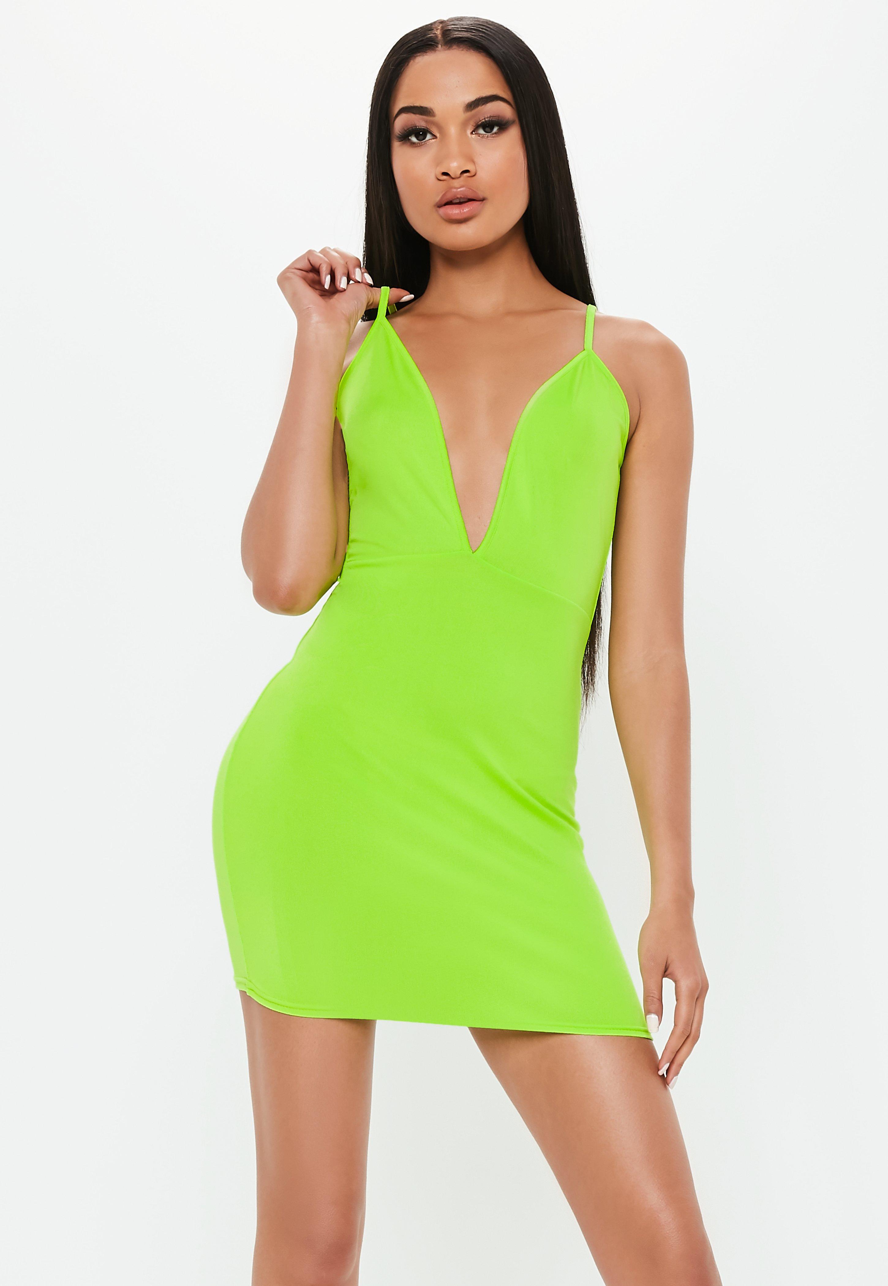 Vestidos de fiesta verde lima