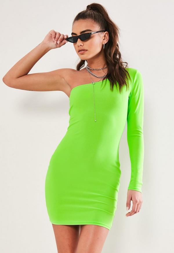 One shoulder mini bodycon dress