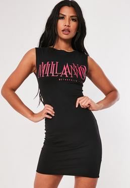 4feb6af96f13 ... Black Milano Raw Edge Bodycon Mini Dress