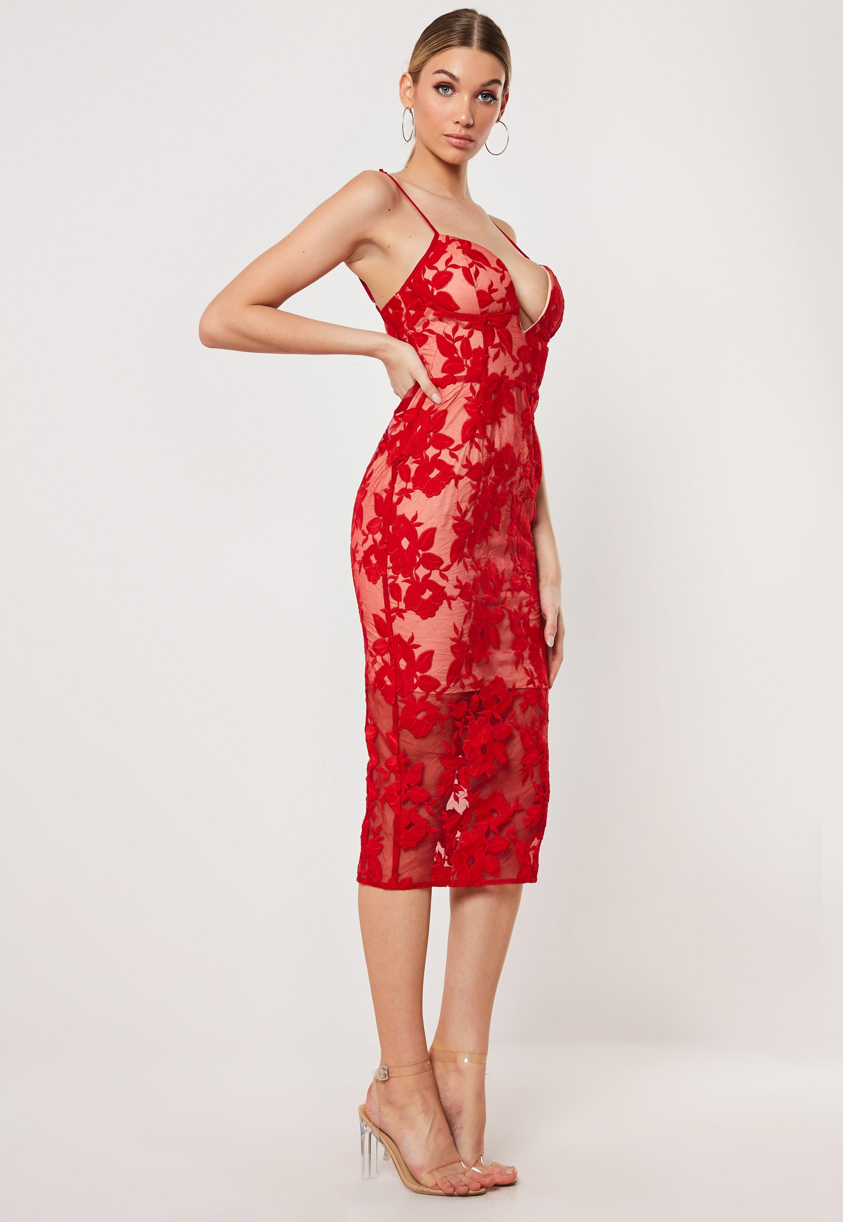 8946e531 Deep V Neck Dress - Plunging Neckline Dresses | Missguided