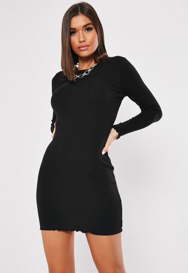 e0d1f66a19ff ... Long Sleeve Lettuce Hem Mini Dress. Previous Next