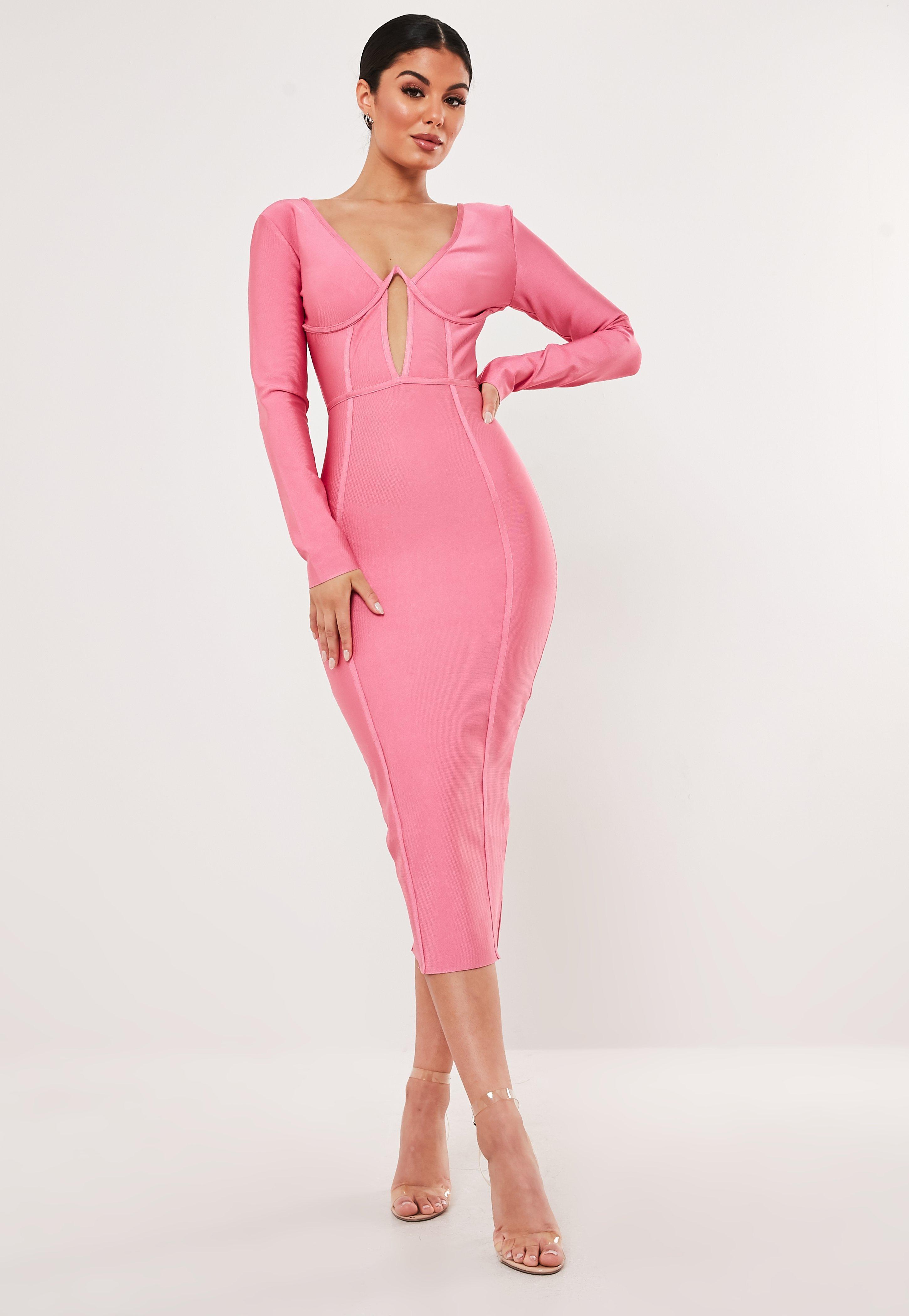 6159a1761476 Midi Dresses | Knee Length Dresses - Missguided