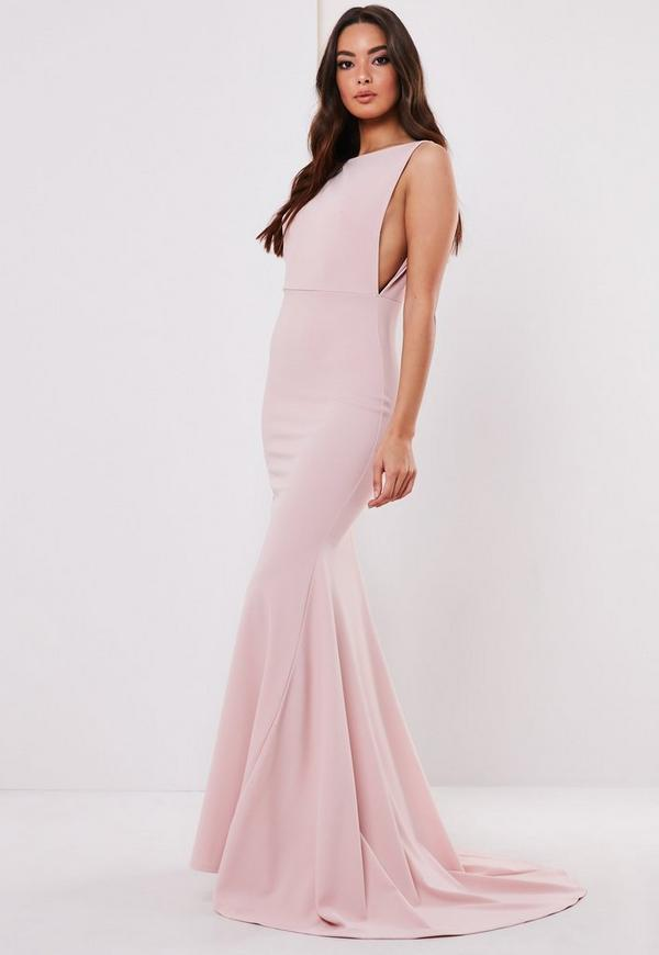 Sleeveless Low Back Maxi Dress Missguided