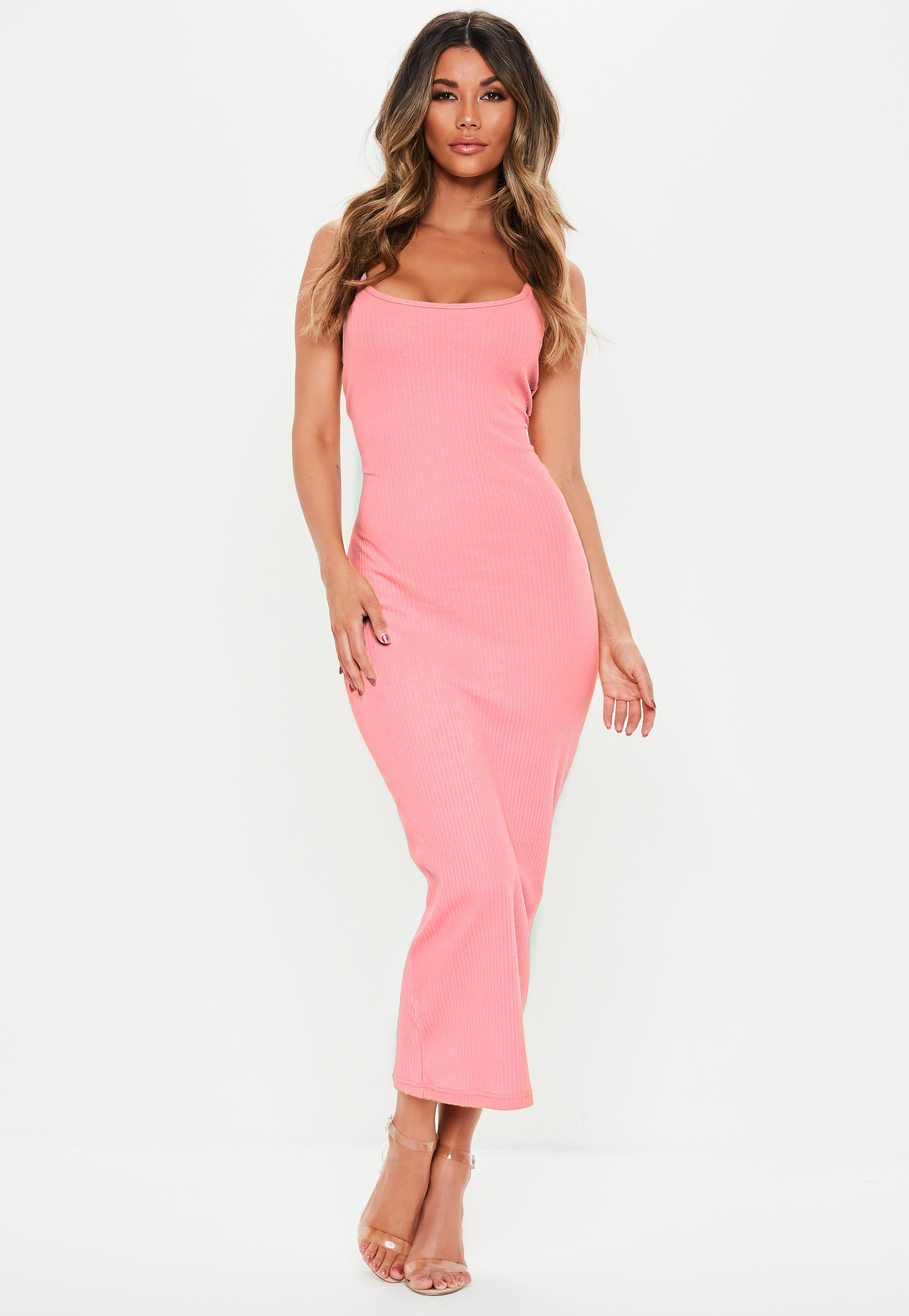 1eff4e99abfb Pink Bodycon Dresses | Coral & Pastel Bodycon Dresses | Missguided