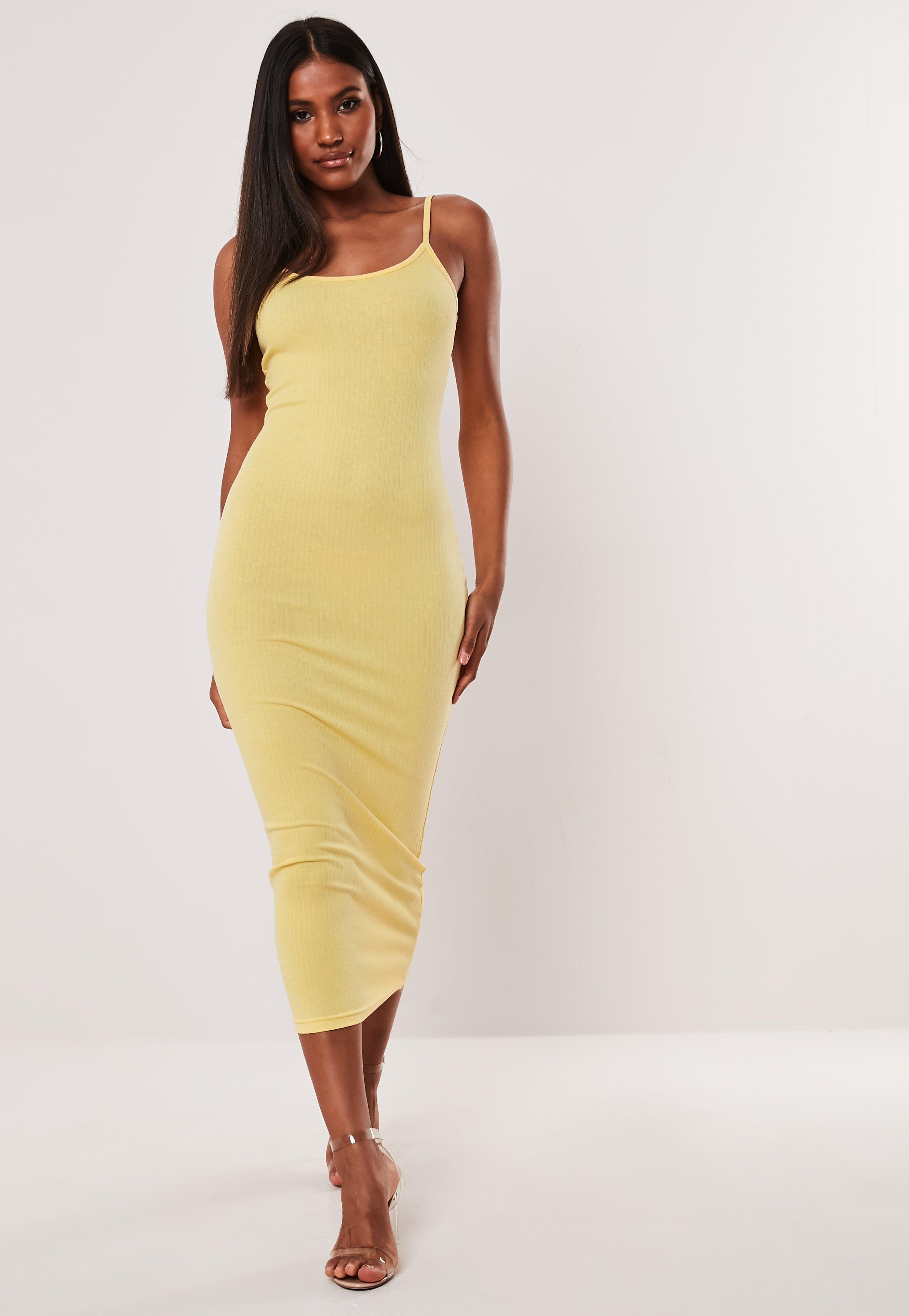 058063a7e4b6 Yellow Midi Dresses   Women's Yellow Midi Dresses Online - Missguided