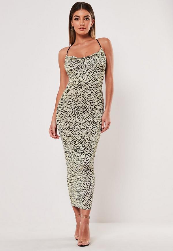60aa16eed26 Tall Brown Leopard Cowl Neck Maxi Dress | Missguided Australia