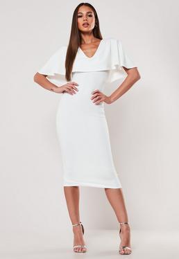 9da18856 Khaki Poplin Belted Midi Shirt Dress