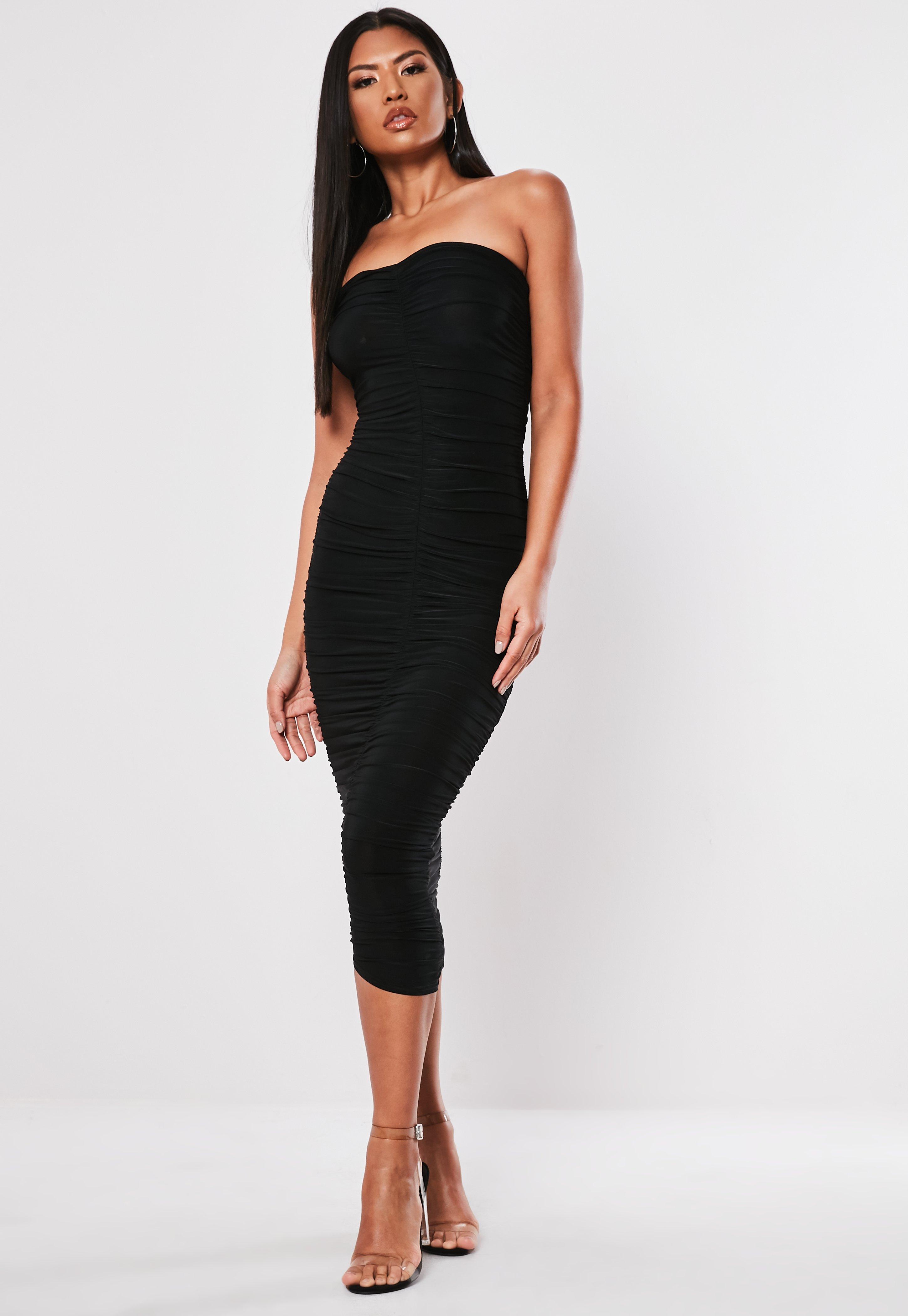 10091e6cdf95 Midi Dresses UK | Knee Length Dresses | Missguided