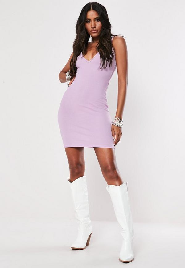 Lilac Cami Bodycon Mini Dress Missguided